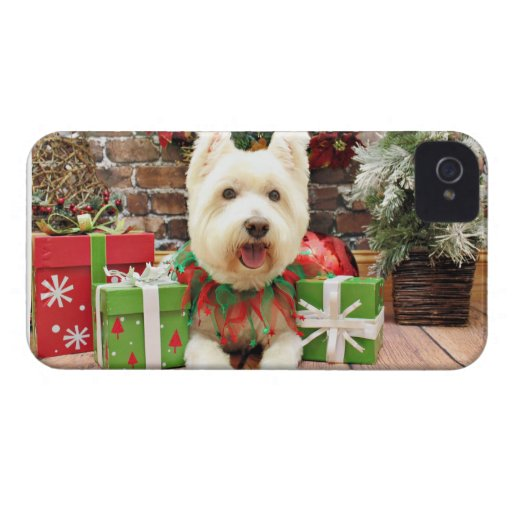 Christmas - Westie - Lucky iPhone 4 Case-Mate Cases