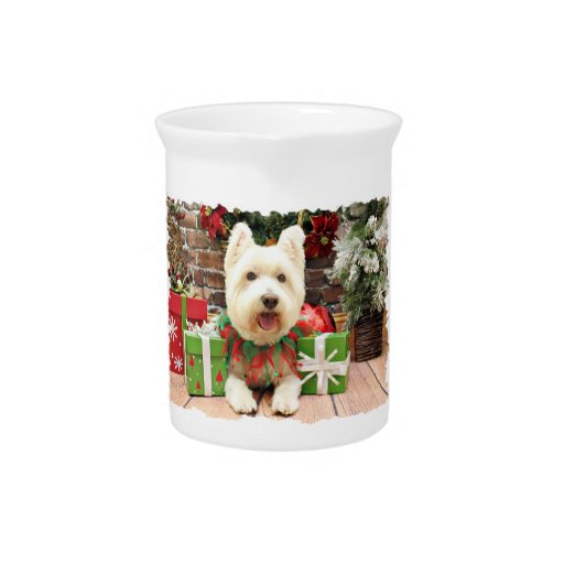 Christmas - Westie - Lucky Drink Pitchers