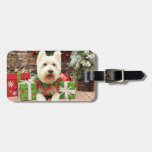 Christmas - Westie - Lucky Tag For Luggage
