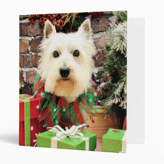 Christmas - Westie - Sammy Vinyl Binder