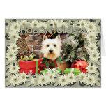 Christmas - Westie - Sammy Greeting Card