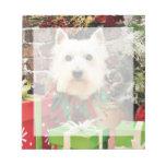 Christmas - Westie - Sammy Note Pads