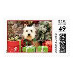 Christmas - Westie - Sammy Postage