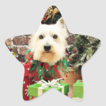 Christmas - Westie - Sammy Sticker