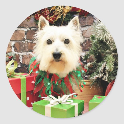 Christmas - Westie - Sammy Stickers