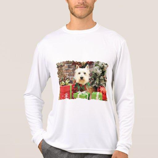 Christmas - Westie - Sammy Tee Shirts