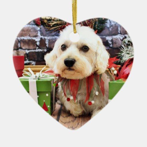 Christmas - Westiepoo - Elliott Double-Sided Heart Ceramic Christmas Ornament