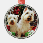 Christmas - Westies - Bailey and Callie Christmas Tree Ornaments
