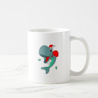 Christmas Whale Coffee Mugs