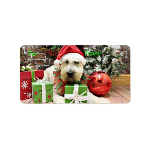 Christmas - Wheaten Terrier - Bailey Address Label