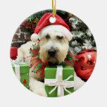 Christmas - Wheaten Terrier - Bailey Ceramic Ornament