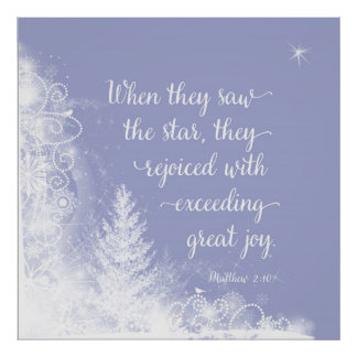 Christmas - When They Saw the Star Poster