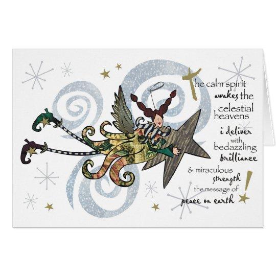 Christmas Whimsical Angel Card
