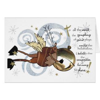 Christmas  Whimsical Reindeer Card