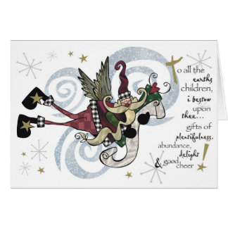 Christmas Whimsical Santa Card