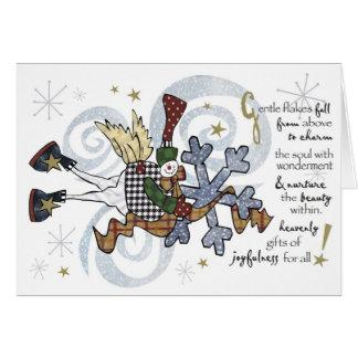 Christmas  Whimsical Snowman Card