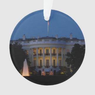 Christmas White House Acrylic Ornament