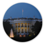 Christmas White House at Night in Washington DC Ceramic Knob