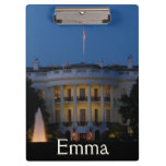 Christmas White House at Night in Washington DC Clipboard