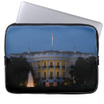 Christmas White House at Night in Washington DC Computer Sleeve