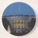 Christmas White House at Night in Washington DC Drink Coaster