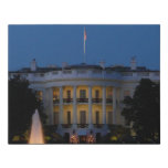 Christmas White House at Night in Washington DC Faux Canvas Print
