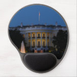 Christmas White House at Night in Washington DC Gel Mouse Pad