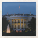 Christmas White House at Night in Washington DC Glass Coaster