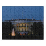 Christmas White House at Night in Washington DC Jigsaw Puzzle
