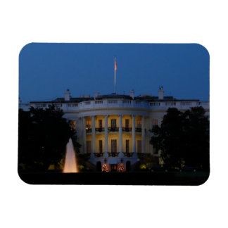Christmas White House at Night in Washington DC Magnet