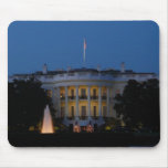 Christmas White House at Night in Washington DC Mouse Pad
