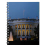 Christmas White House at Night in Washington DC Notebook