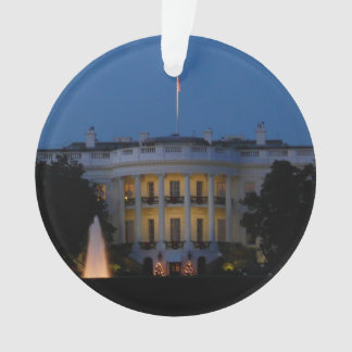 Christmas White House at Night in Washington DC Ornament