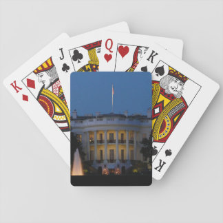 Christmas White House at Night in Washington DC Playing Cards