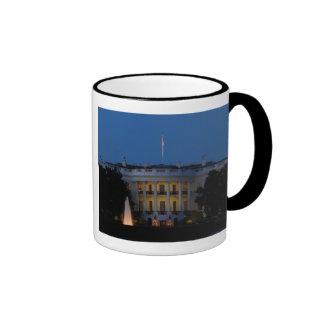 Christmas White House at Night in Washington DC Ringer Mug