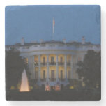 Christmas White House at Night in Washington DC Stone Coaster