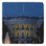 Christmas White House at Night in Washington DC Trivet
