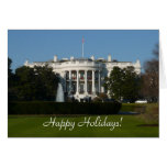 Christmas White House Card