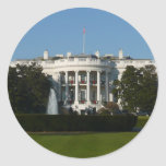 Christmas White House for Holidays Washington DC Classic Round Sticker