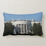 Christmas White House for Holidays Washington DC Lumbar Pillow