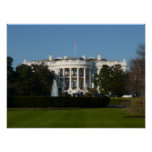 Christmas White House for Holidays Washington DC Poster