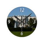 Christmas White House for Holidays Washington DC Round Clock