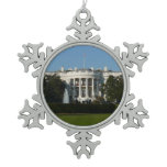 Christmas White House for Holidays Washington DC Snowflake Pewter Christmas Ornament