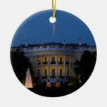 Christmas White House Ornament
