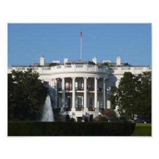 Christmas White House Photo Print