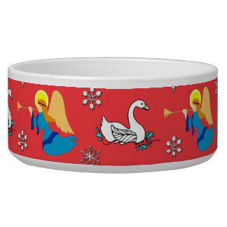 Christmas – White Swans & Brown Top Hats Bowl