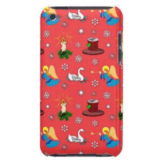 Christmas – White Swans & Brown Top Hats Case-Mate iPod Touch Case