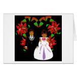 Christmas White Wedding Heart Floral Card Card