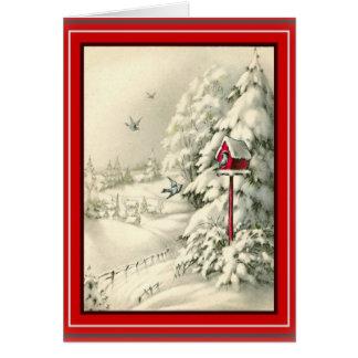 Christmas White Winter Wonderland Card