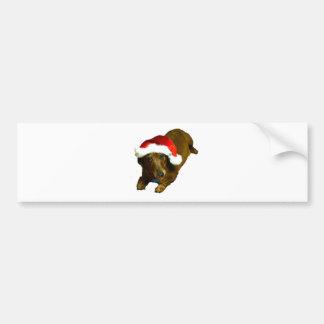 Christmas Wienerdog Bumper Sticker
